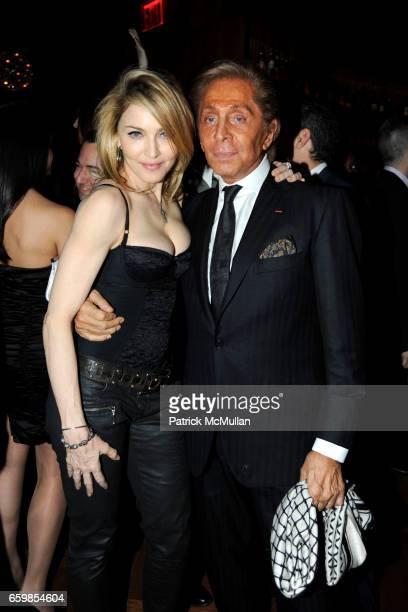 Madonna and Valentino Garavani attend Celebration of the DVD release of VALENTINO THE LAST EMPEROR at The Standard on November 3 2009 in New York City