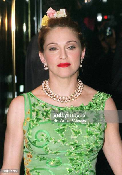 Madonna ariving at the Empire Leicester Square for the British premiere of the film Evita The American singer takes the lead role of Eva Peron in...