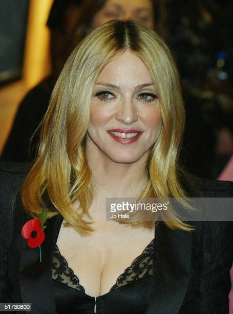Madonna arrives at the final of 'UK Music Hall Of Fame' the Channel 4 series looking at popular music from the 1950's to the 1990's at the Hackney...