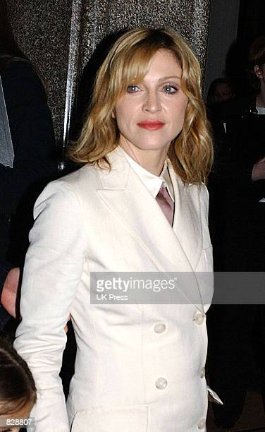 Madonna arrives at the opening of the Mario Testino photography exhibition January 29 2002 at the National Portrait Gallery in London The exhibition...