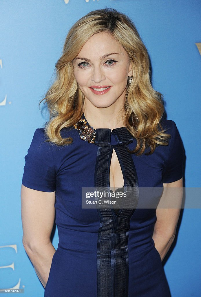 Madonna attends a photocall for W.E at The London Studios on January 11, 2012 in London, England.