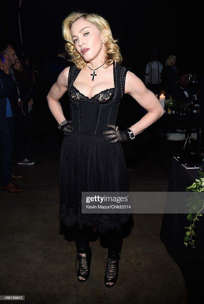 Madonna attends Keep A Child Alive's 11th Annual Black Ball at Hammerstein Ballroom on October 30, 2014 in New York City.