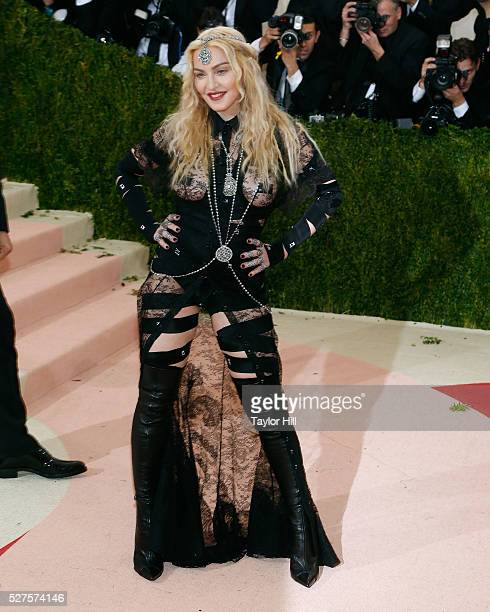 Madonna attends 'Manus x Machina Fashion in an Age of Technology' the 2016 Costume Institute Gala at the Metropolitan Museum of Art on May 02 2016 in...