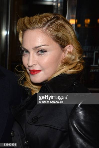 Madonna attends the '12 Years A Slave' premiere during the 51st New York Film Festival at The Film Society of Lincoln Center Walter Reade Theatre on...