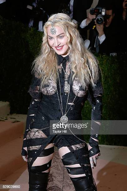 Madonna attends the 2016 Costume Institute Gala at the Metropolitan Museum of Art on May 02 2016 in New York New York