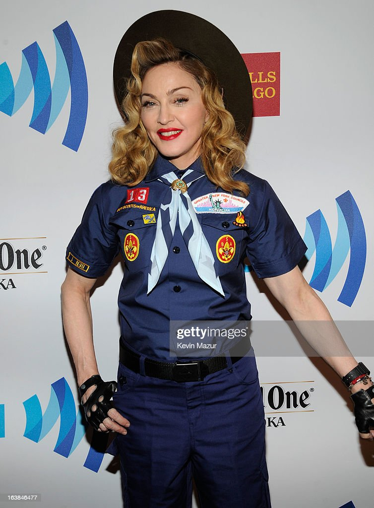 Madonna attends the 24th Annual GLAAD Media Awards at Marriot Marquis on March 16, 2013 in New York City.