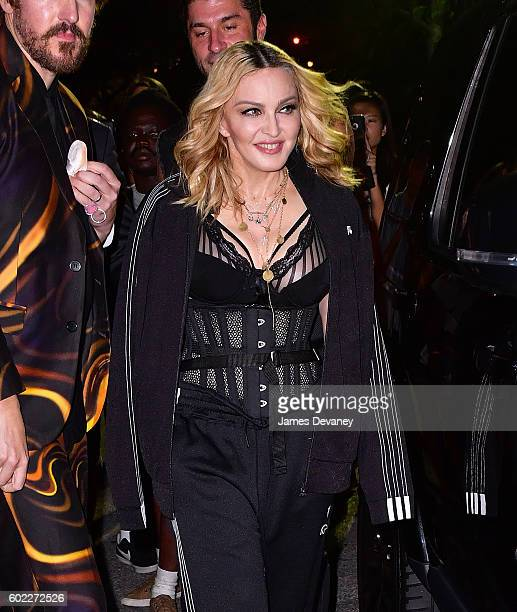 Madonna attends the Alexander Wang show during New York Fashion Week at Pier 94 on September 10 2016 in New York City