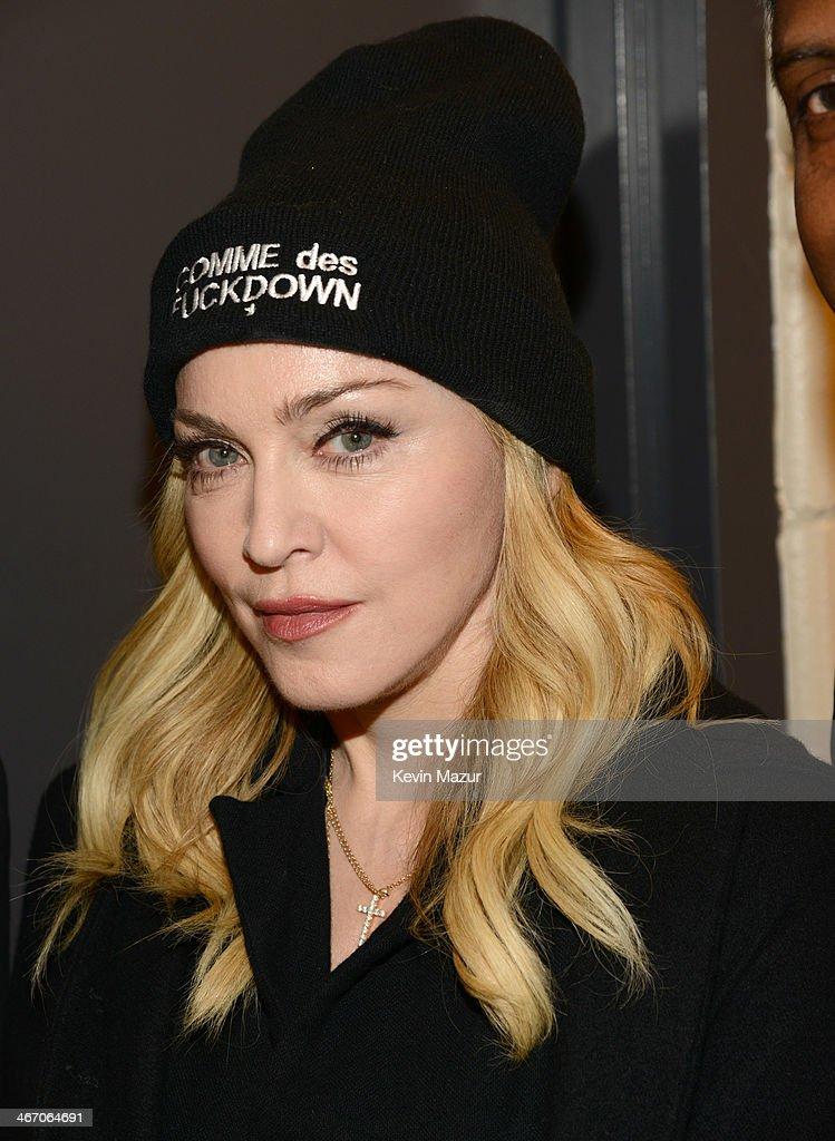 Madonna attends the Amnesty International Concert presented by the CBGB Festival at Barclays Center on February 5, 2014 in New York City.