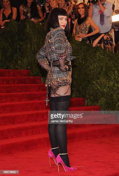 Madonna attends the Costume Institute Gala for the 'PUNK Chaos to Couture' exhibition at the Metropolitan Museum of Art on May 6 2013 in New York City