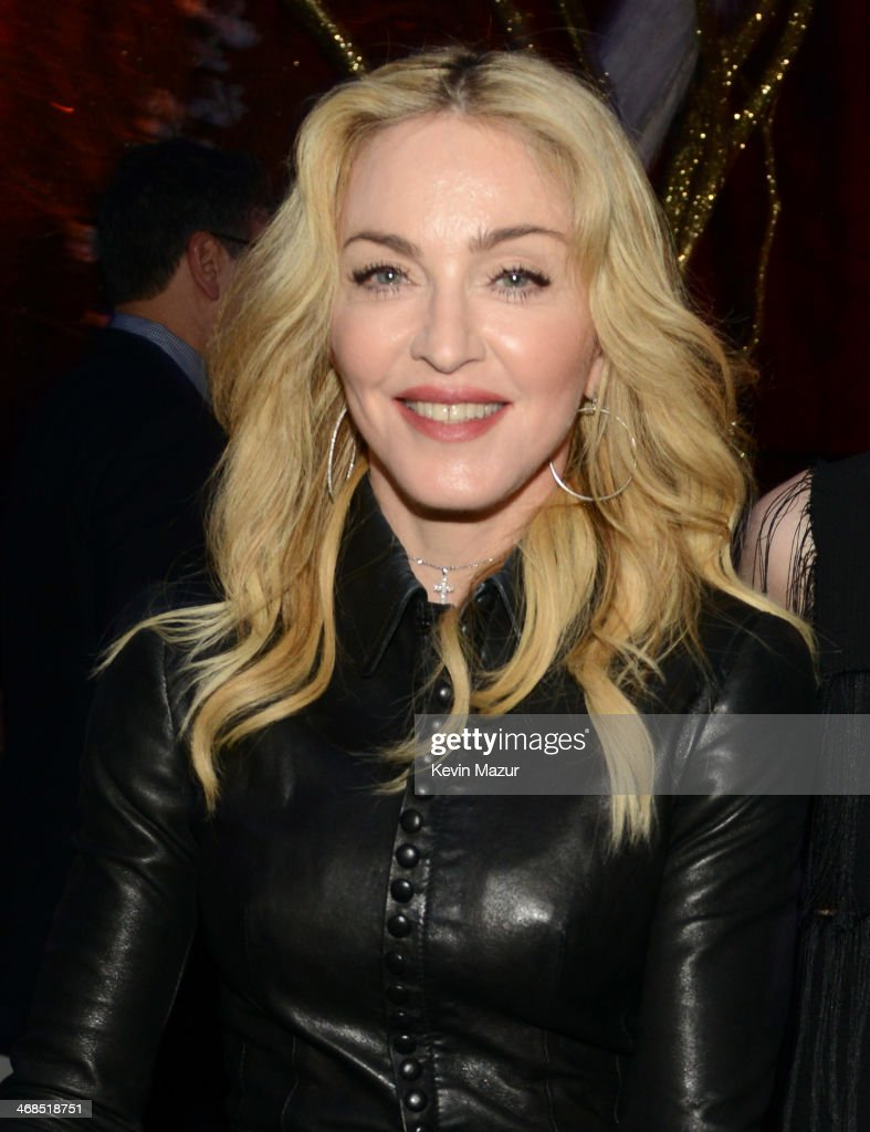 Madonna attends The Great American Songbook event honoring Bryan Lourd at Alice Tully Hall on February 10, 2014 in New York City.