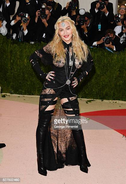Madonna attends the 'Manus x Machina Fashion in an Age of Technology' Costume Institute Gala at the Metropolitan Museum of Art on May 2 2016 in New...