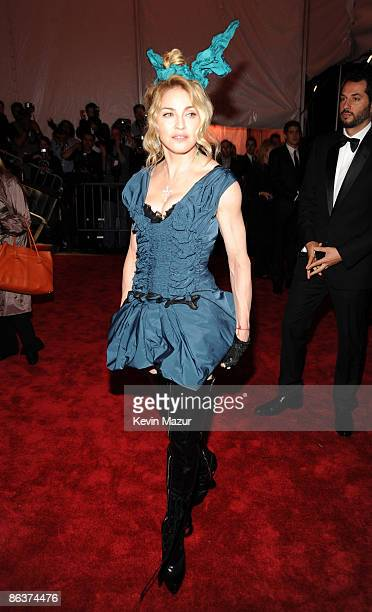 Madonna attends 'The Model as Muse Embodying Fashion' Costume Institute Gala at The Metropolitan Museum of Art on May 4 2009 in New York City