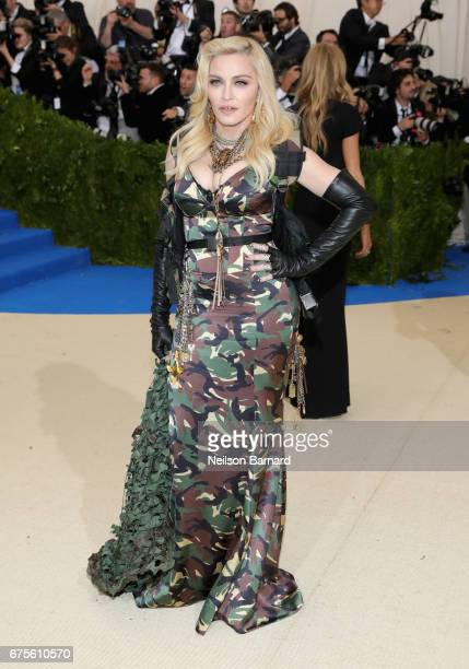 Madonna attends the 'Rei Kawakubo/Comme des Garcons Art Of The InBetween' Costume Institute Gala at Metropolitan Museum of Art on May 1 2017 in New...