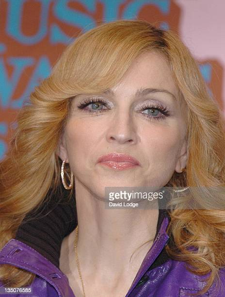 Madonna during 2005 MTV European Music Awards Lisbon Press Room at Atlantic Pavillion in Lisbon Portugal
