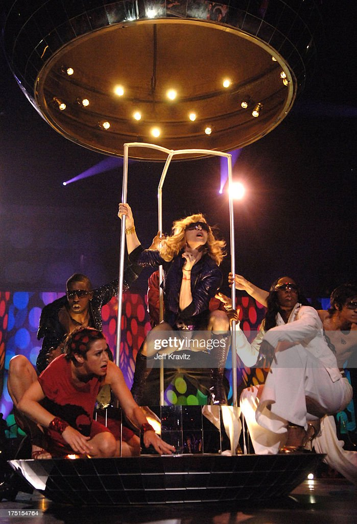 In Lisbon in 2005, Madonna kicked off the show in a giant mirror ball.