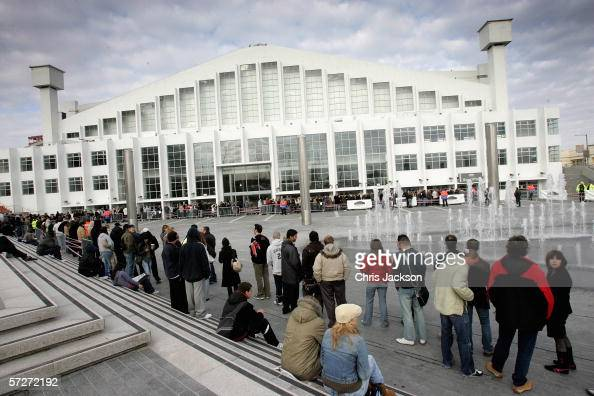 Madonna fans queue to get hold of the first tickets to be sold for pop icon Madonna's summer concerts as they go on sale at Wembley Arena ticket...