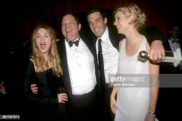 Madonna Harvey Weinstein Ben Affleck and Gwyneth Paltrow attend Annual Golden Globe Awards After Party Hosted by Miramax Films at the Beverly Hilton...