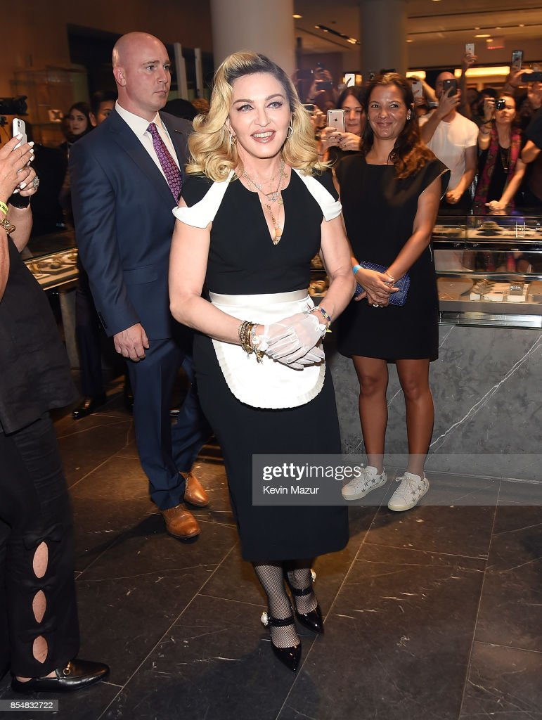 Madonna launches MDNA SKIN collection at Barneys New York on September 26, 2017 in New York City.