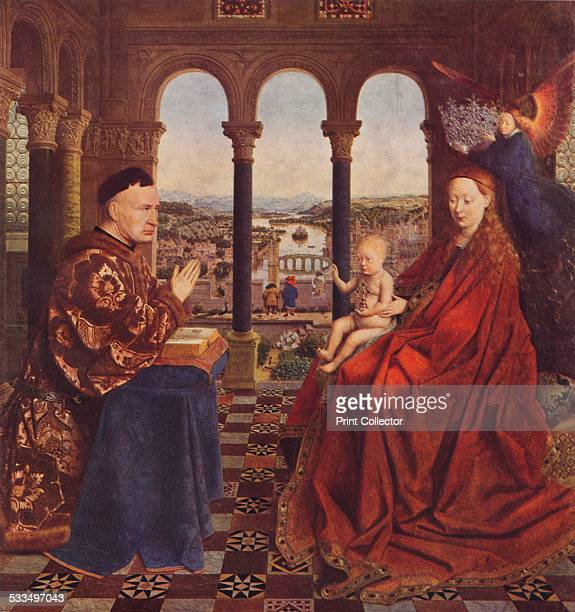 Madonna of Chancellor Rolin c1435 Painting held in The Louvre Paris From WorldFamous Paintings edited by J Greig Pirie [W G Foyle Ltd London 1938]
