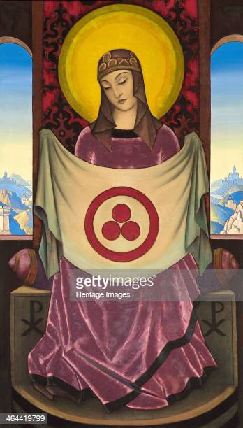 'Madonna Oriflamma' 1932 Found in the collection of the Nicholas Roerich Museum New York
