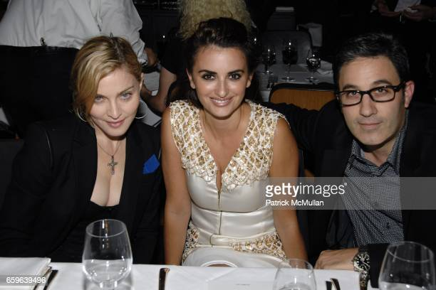 Madonna Penelope Cruz and Jason Weinberg attend PAPER MAGAZINE Dinner In Honor of PEDRO ALMODOVAR PENELOPE CRUZ Their Film 'BROKEN EMBRACES' at Casa...