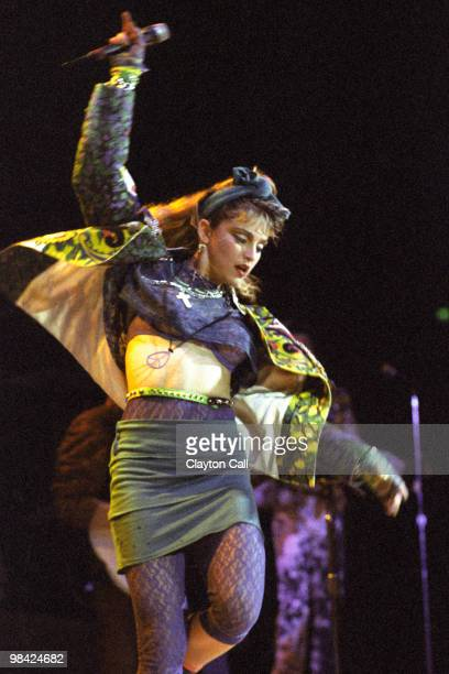 Madonna performing at the San Francisco Civic Auditorium on April 23 1985
