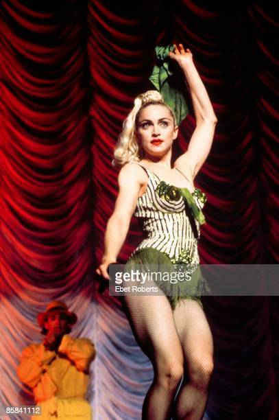 Photo of MADONNA Madonna performing on tour Blond Ambition Tour