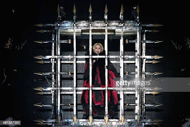 Madonna performs at Boardwalk Hall Arena on October 3 2015 in Atlantic City New Jersey