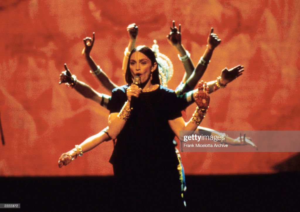 Madonna performs at the 1998 MTV Video Music Awards held in Los Angeles, CA on September 10, 1998.