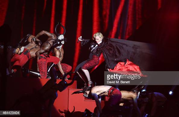 Madonna performs at the BRIT Awards 2015 at The O2 Arena on February 25 2015 in London England