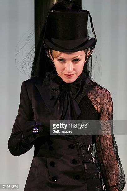 Madonna performs at the first London concert of her 'Confessions' world tour at Wembley Arena August 1 2006 in London England
