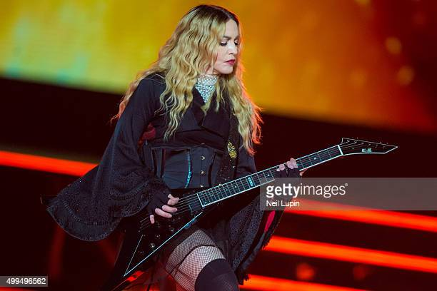 Madonna performs during her 'Rebel Heart Tour' at The O2 Arena on December 1 2015 in London England