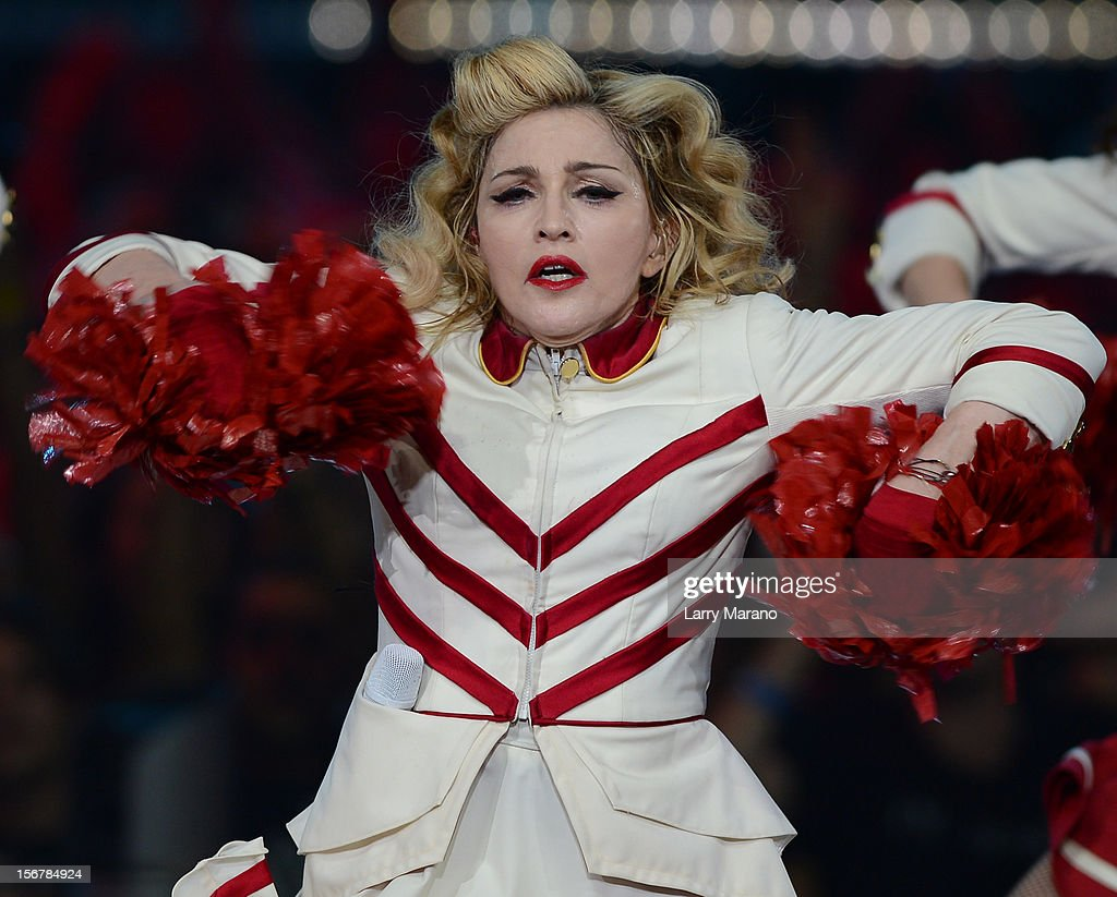 Madonna performs her final performance of her US 'MDNA' tour at American Airlines Arena on November 20 2012 in Miami Florida