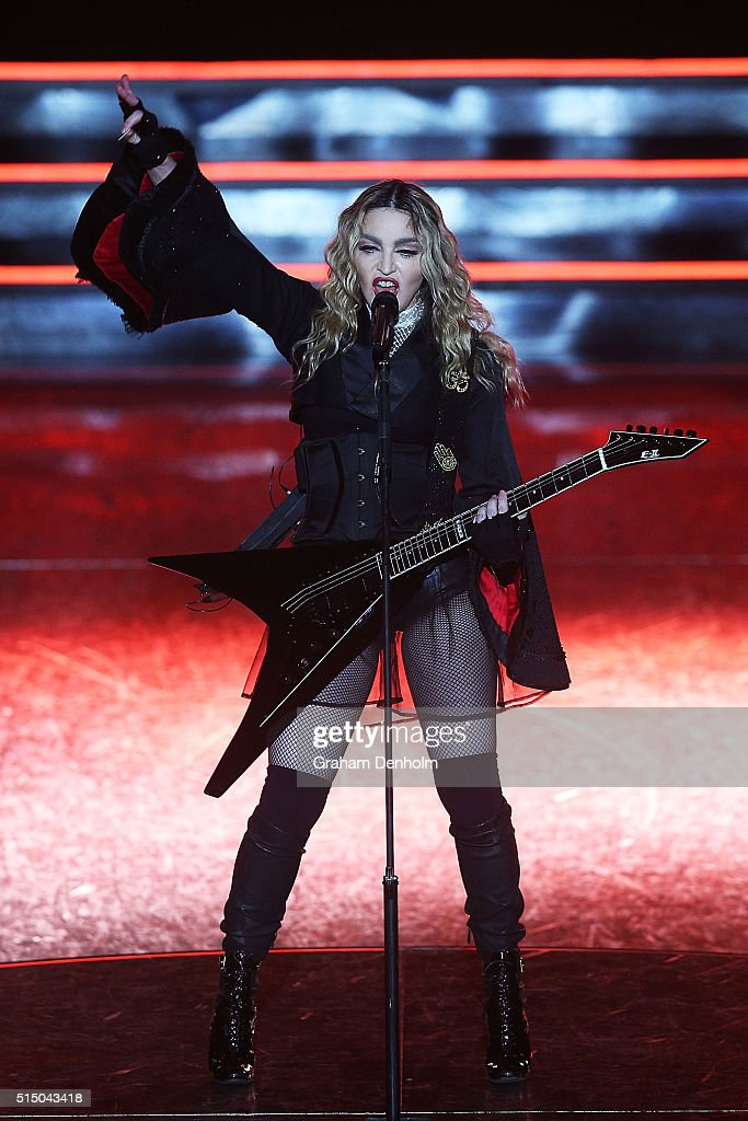 Madonna performs in concert at Rod Laver Arena on March 12 2016 in Melbourne Australia