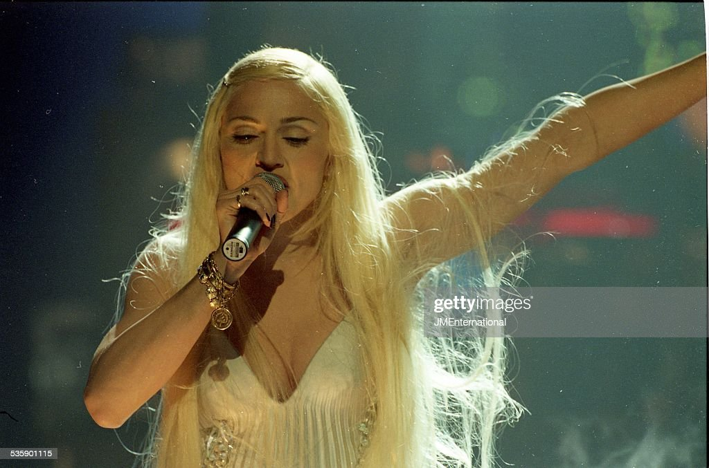 Madonna performs on stage at The BRIT Awards 1995, Alexandra Palace, London, United Kingdom, 20th Fenruary 1995.