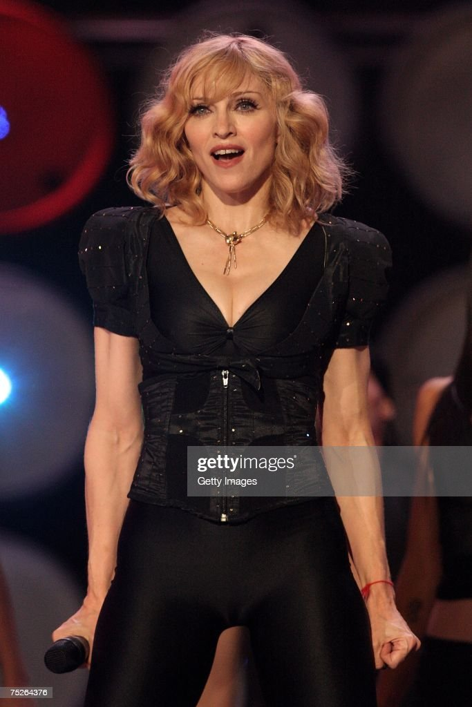 <a gi-track='captionPersonalityLinkClicked' href=/galleries/search?phrase=Madonna+-+Singer&family=editorial&specificpeople=156408 ng-click='$event.stopPropagation()'>Madonna</a> performs on stage during the Live Earth concert at Wembley Stadium on July 7, 2007 in London, England. Live Earth is a 24-hour, 7-continent series of concerts involving over a 100 music artists and 2 billion people aimed at raising awareness of global climate change.