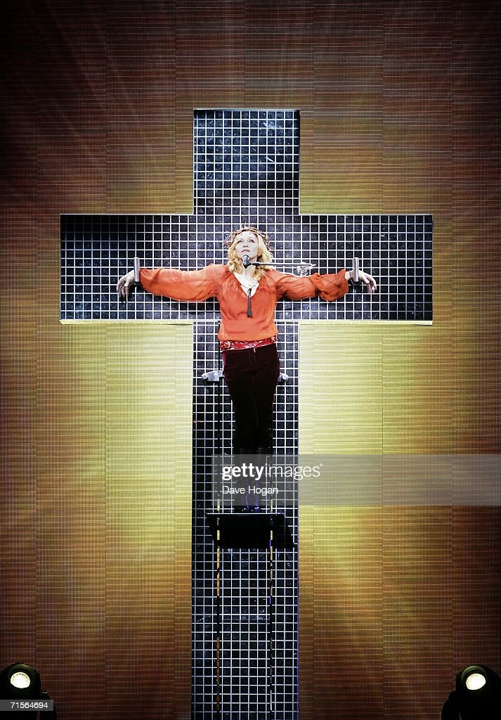 <a gi-track='captionPersonalityLinkClicked' href=/galleries/search?phrase=Madonna+-+Singer&family=editorial&specificpeople=156408 ng-click='$event.stopPropagation()'>Madonna</a> performs onstage at the first London concert of her 'Confessions' World Tour at Wembley Arena August 1, 2006 in London, England.