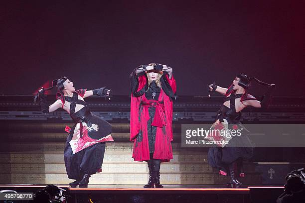 Madonna performs onstage during her 'Rebel Heart' Tour at the Lanxess Arena on November 4 2015 in Cologne Germany