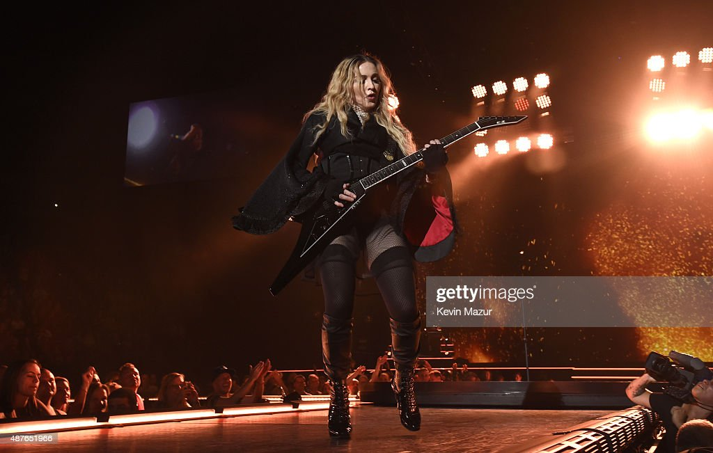 Madonna performs onstage during her 'Rebel Heart' tour opener at Bell Centre on September 10 2015 in Montreal Canada