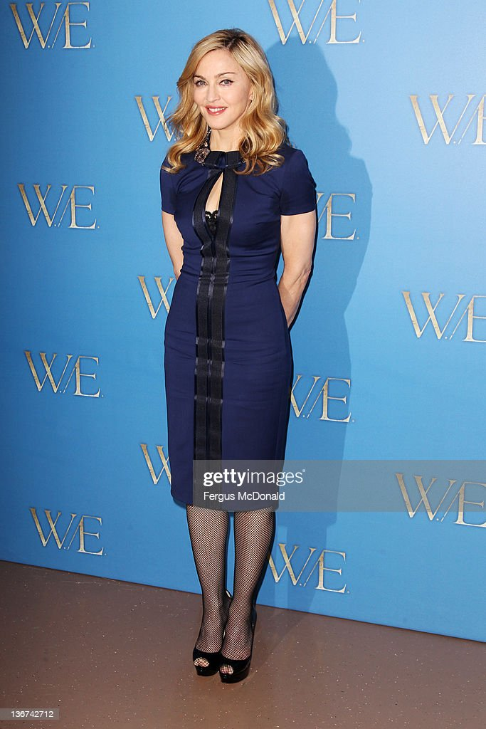 Madonna poses at a photocall for WE at London Studios on January 11 2012 in London United Kingdom