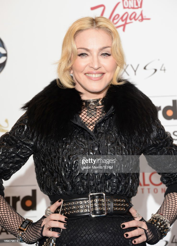 Madonna poses in the press room during the 2013 Billboard Music Awards at the MGM Grand Garden Arena on May 19, 2013 in Las Vegas, Nevada.