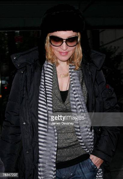 Madonna sighting in New York City on December 9 2007