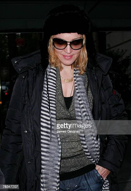 Madonna sighting in New York City on December 9 2007