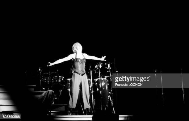 Madonna sur scène au parc de Sceaux le 29 août 1987 en France