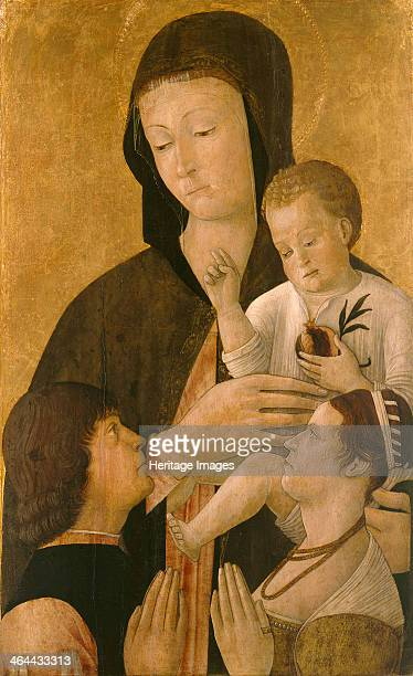Madonna with child and two donors 1460 Found in the collection of the Staatliche Museen Berlin