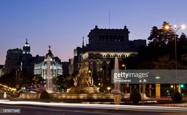Madrid de nuit longue exposition