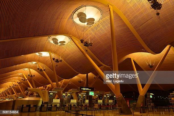 Aeropuerto de Barajas de Madrid, España.