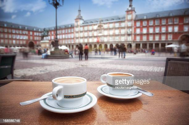 Madrid: Cafe in Plaza Mayor