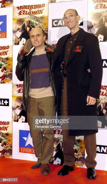 060203 Madrid Cines Kinepolis Preestreno de la pelicula Mortadelo y Filemon basada en los personajes del dibujante Francisco Ibanez Pepe Viyuela que...