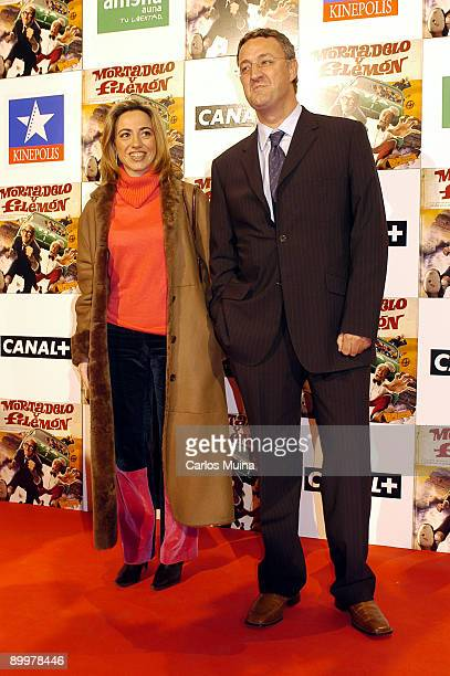 060203 Madrid Cines Kinepolis Preestreno de la pelicula Mortadelo y Filemon basada en los personajes del dibujante Francisco Ibanez Carmen Chacon y...